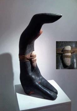Terracotta ingobbiata – corde – pietra – 2000 - cm 20x36x68