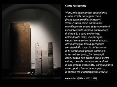 Voci d'amore installazione d'arte elettroacustica su poesie d'amore - 2014 poesia di Antonia Pozzi Debora Mondovì opere scultoree in terracotta e metallo Silvia Lanzalone musica e installazioni sonore